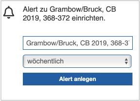 Alert-Fenster in R&W-Online